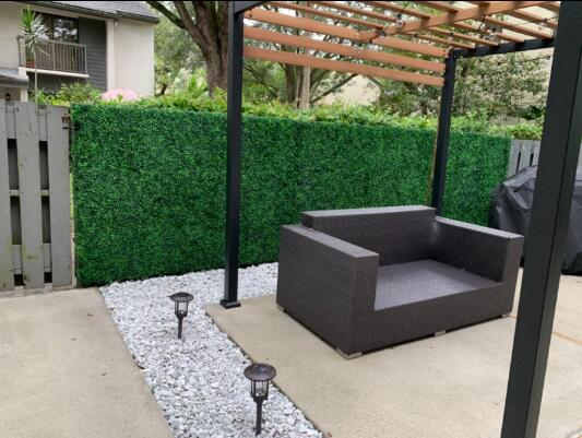 Faux Boxwood Hedge Panels