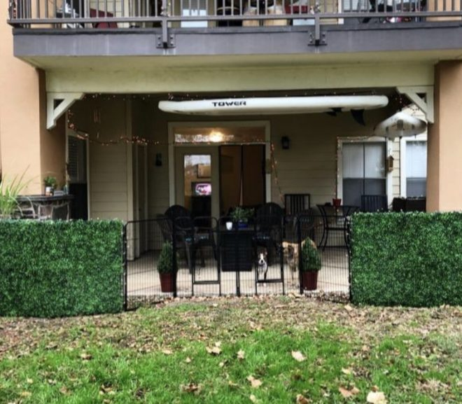 Artificial Boxwood Privacy Hedge Screen UV Protected
