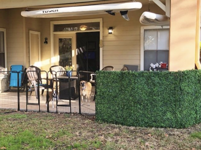 Artificial Boxwood Privacy Hedge Screen