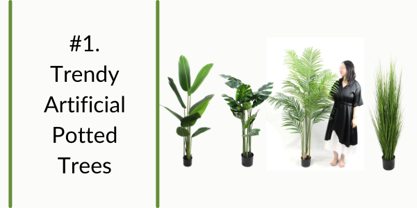 artificial potted trees